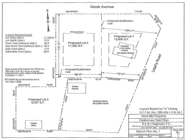 Lot <b>Size:</b> 86X131 Land style home in West Islip