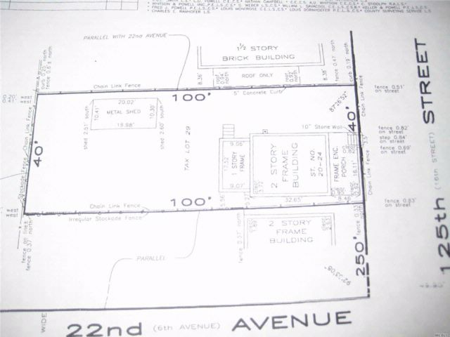 Lot <b>Size:</b> 40X100 Land style home in College Point