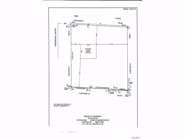 Lot <b>Size:</b> 150 X 168 Land style home in Patchogue