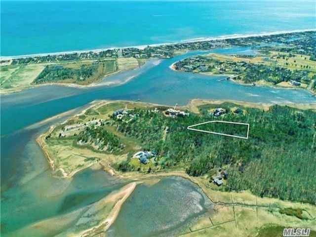 Lot <b>Size:</b> 2.06 Acres Land style home in Quogue