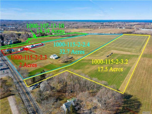 Lot <b>Size:</b> 64.54  Land style home in Mattituck