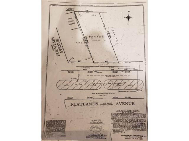 Lot <b>Size:</b> 40 x100.17 Land style home in East New York